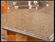Фотография столешницы кухонной из полимербетона Спирит