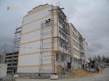 Утепление многоэтажных строений теплыми плитками и полифасадом