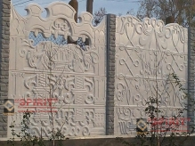 Заборы секционные из бетона от компании Спирит - Кислотное травление под камень и Глянец под Мрамор