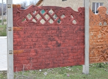 Забор бетонный по технологии Мрамор из бетона