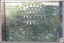 Z022 - Z023 - Z024 - Формы для заборов из АБС пластика - Камень в кирпичной оправе