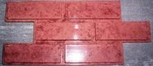 Фасадный камень из бетона под Гладкий глянцевый кирпич