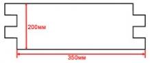 Размерный чертеж вентилируемого фасада vf011, vf012 и vf013